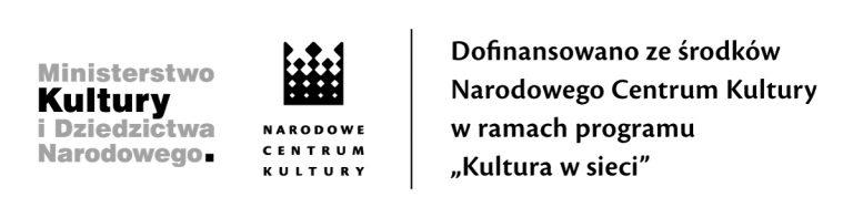 Obrazek posiada pusty atrybut alt; plik o nazwie 2020-NCK_dofinans_kulturawsieci-mono-768x197-1.jpg